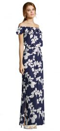 Blouson Off the Shoulder Floral Print Maxi Dress at Dillards
