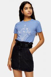 Blue Diamanté Mystic Child T-Shirt at Topshop