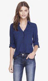 Blue Diamond Convertible Sleeve Portofino Shirt at Express