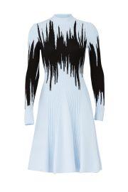 Blue Intarsia Knit Dress at Rent the Runway