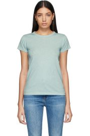 Blue Pima Cotton \'The Tee\' T-Shirt at Ssenses