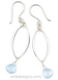 Blue Topaz Earrings at Arte Designs