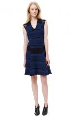 Blue Tweed Dress at Rebecca Taylor