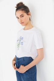 Blue Violet Crew Neck Tee at Urban Outfitters