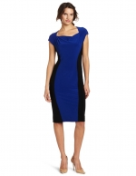 Blue and black colorblock dress at Amazon
