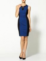 Blue and black colorblock dress at Piperlime