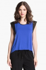Blue and black colorblock tee at Nordstrom