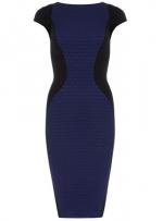 Blue and black pencil dress like Hannas at Dorothy Perkins