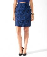 Blue and black printed skirt from Forever 21 at Forever 21