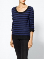Blue and black striped sweater at Piperlime at Piperlime