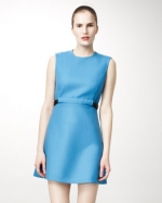 Blue belted dress by Stella McCartney at Neiman Marcus