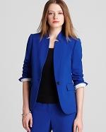 Blue blazer with similar collar at Bloomingdales