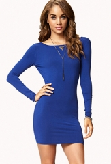 Blue bodycon dress at Forever 21