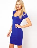 Blue bodycon dress at ASOS at Asos