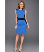 Blue colorblock dress by Calvin Klein at 6pm.png