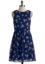 Blue floral dress from Modcloth at Modcloth