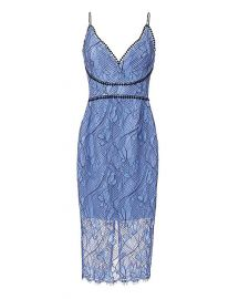 Blue lace dress at Intermix