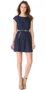 Blue lace dress by Madewell at Shopbop