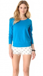 Blue long sleeve tee at Shopbop at Shopbop