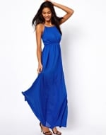 Blue maxi dress with keyhole detail at Asos