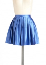 Blue metallic skirt from Modcloth at Modcloth