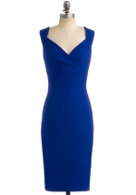 Blue pencil dress at Modcloth at Modcloth