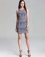 Blue printed dress by Dolce Vita at Bloomingdales