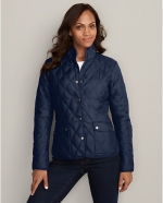 Blue quilted jacket  at Eddie Bauer