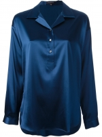 Blue satin blouse by Walter Voulaz at Farfetch