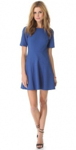 Blue seamed dress by Tibi at Shopbop