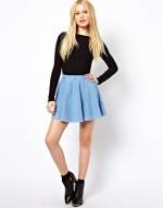 Blue skater skirt by River Island at Asos