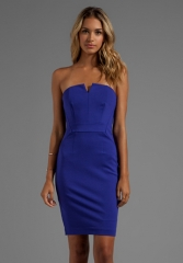 Blue strapless dress by Trina Turk at Revolve