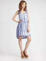 Blue tiedye dress from Saks at Saks Fifth Avenue