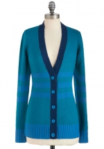 Blue tipped cardigan at Modcloth at Modcloth