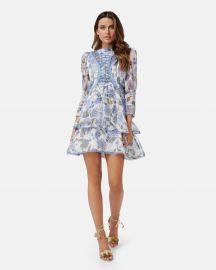 Bluebell Print Mini Dress at The Iconic