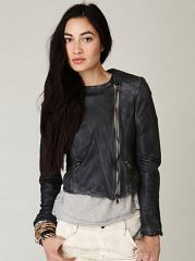 Blur Leather Jacket at Free People