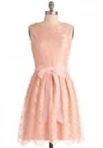 Blush pink lace dress at Modcloth