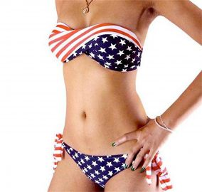 Bnice Womens Sexy USA Flag Bikini Set Casual Patriotic Bathing Suit Two Piece Swimwear at Amazon