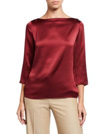 Boatneck Silk Blouse by Vince at Last Call