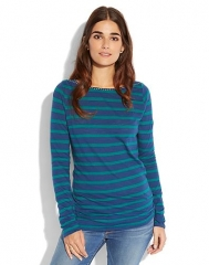 Boatneck Stripe Top at Lucky Brand