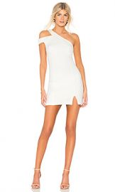 Bobi BLACK One Shoulder Dress in White from Revolve com at Revolve