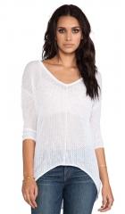 Bobi Mesh Sweater in White  REVOLVE at Revolve