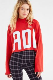 Bold Age Mock-Neck Cropped Top at Urban Outfitters