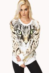 Bold Cat Sweatshirt at Forever 21