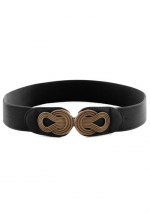 Boldly Buckled Belt in Black at Modcloth