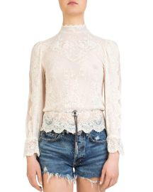 Bolo-Detail Lace Top at Bloomingdales