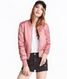 Bomber Jacket Pink at H&M