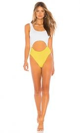 Bond Eye X BOUND The Mishy One Piece in White  amp  Lemon from Revolve com at Revolve
