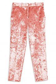 Bonded Velvet Trousers by Topshop at Nordstrom Rack