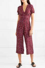 Bonnie floral-print piqué jumpsuit at Net A Porter